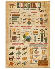 Hunting Infographic Elements 11x17 Poster front