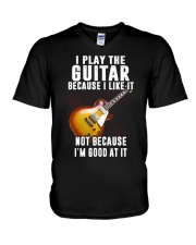 Love Guitar Father's Day V-Neck T-Shirt thumbnail