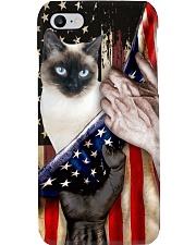Love Siamese Cat United State Flag Phone Case i-phone-8-case