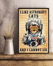 I Like Astronaut Cats 11x17 Poster lifestyle-poster-3