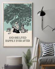 And She Lived Happily Ever After Reading 11x17 Poster lifestyle-poster-1