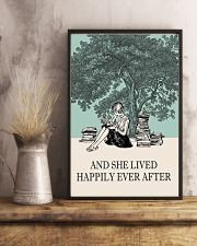 And She Lived Happily Ever After Reading 11x17 Poster lifestyle-poster-3