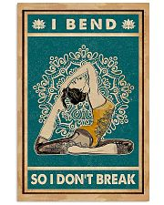 Yoga I Bend So I Don't Break 11x17 Poster front