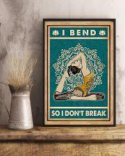 Yoga I Bend So I Don't Break 11x17 Poster lifestyle-poster-3