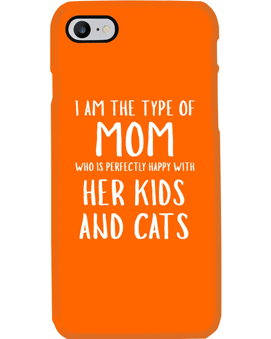 Kids and Cats Mom Shirts Phone Case showcase