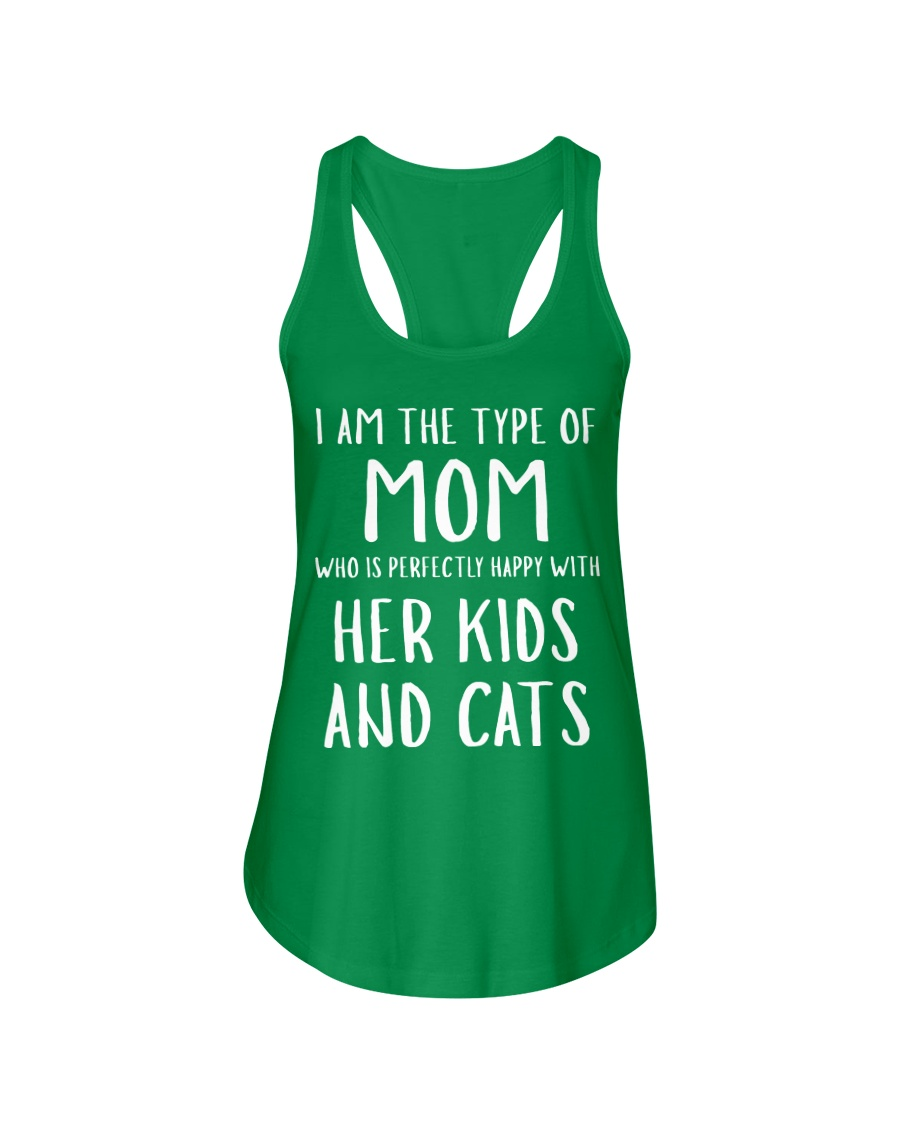 Kids and Cats Mom Shirts Ladies Flowy Tank