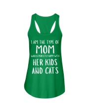 Kids and Cats Mom Shirts Ladies Flowy Tank front