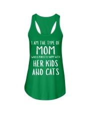 Kids and Cats Mom Shirts Ladies Flowy Tank thumbnail