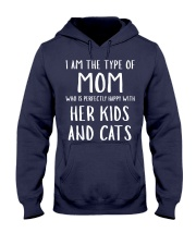 Kids and Cats Mom Shirts Hooded Sweatshirt front