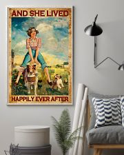 Farmer Girl Love Horses And Dogs 11x17 Poster lifestyle-poster-1