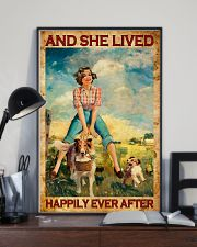 Farmer Girl Love Horses And Dogs 11x17 Poster lifestyle-poster-2