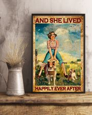 Farmer Girl Love Horses And Dogs 11x17 Poster lifestyle-poster-3