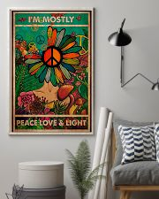 I'm Mostly Peace Love And Light 11x17 Poster lifestyle-poster-1