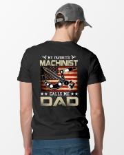 My Favorite Machinist Calls Me Dad Classic T-Shirt lifestyle-mens-crewneck-back-6