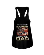 My Favorite Machinist Calls Me Dad Ladies Flowy Tank thumbnail