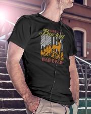 Best Buckin Dad Ever Classic T-Shirt lifestyle-mens-crewneck-front-5