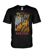 Best Buckin Dad Ever V-Neck T-Shirt thumbnail