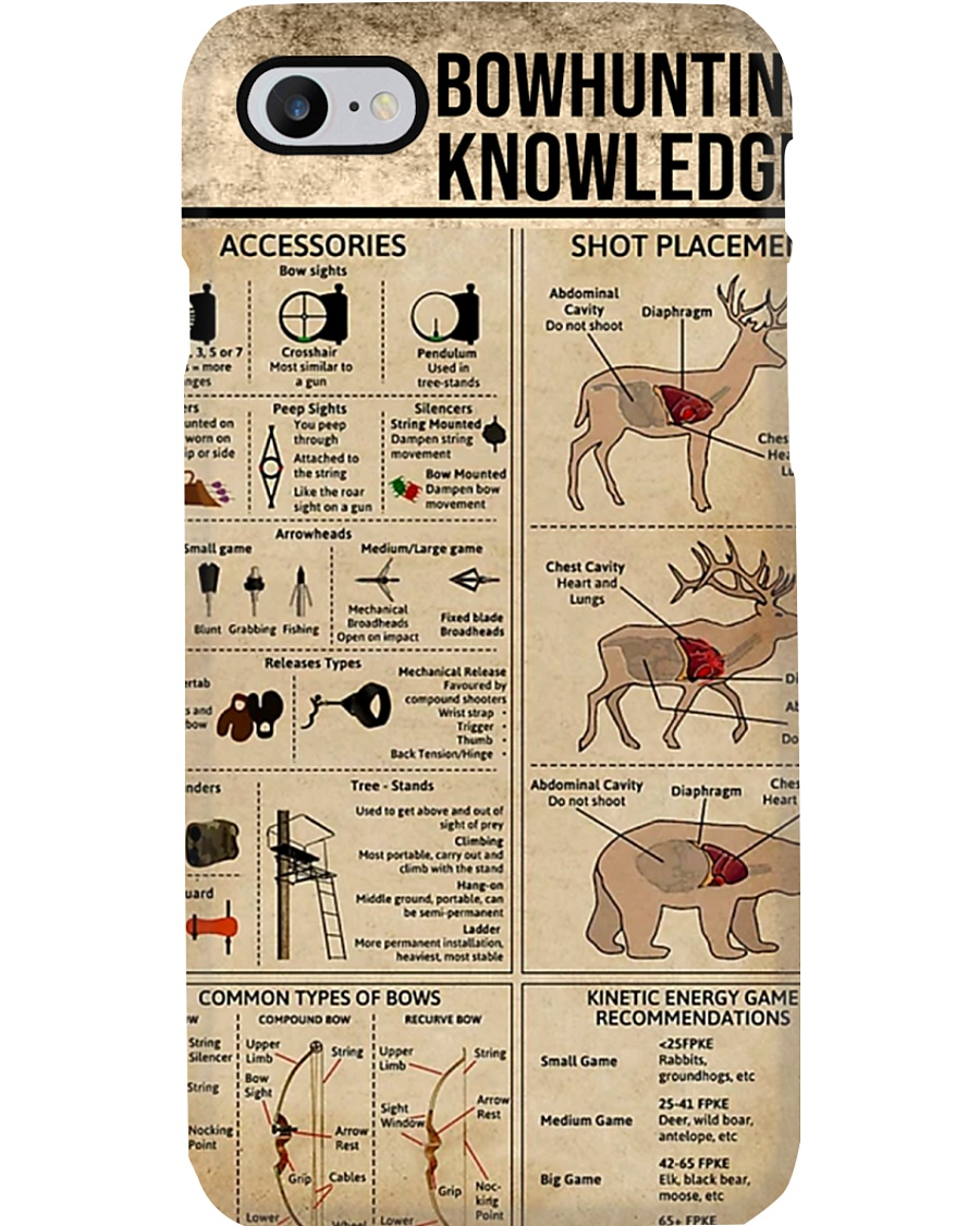 Bowhunting Knowledge Phone Case
