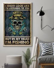 In My Head I'm Fishing 11x17 Poster lifestyle-poster-1