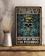 In My Head I'm Fishing 11x17 Poster lifestyle-poster-3