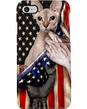Love Peterbald Cat United State Flag Phone Case i-phone-8-case