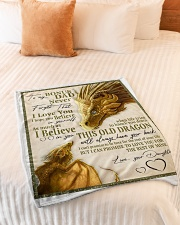 "To My Bonus Dad Small Fleece Blanket - 30"" x 40"" aos-coral-fleece-blanket-30x40-lifestyle-front-01"