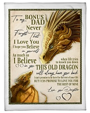 "To My Bonus Dad Small Fleece Blanket - 30"" x 40"" front"