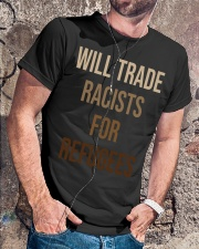 Will Trade Racists For Refugees Classic T-Shirt lifestyle-mens-crewneck-front-4