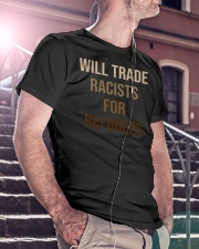 Will Trade Racists For Refugees Classic T-Shirt lifestyle-mens-crewneck-front-5