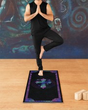 My God Yoga Mat 24x70 (vertical) aos-yoga-mat-lifestyle-03