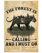 The Forest Is Calling Love Tiger Camping 11x17 Poster front