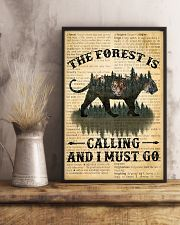 The Forest Is Calling Love Tiger Camping 11x17 Poster lifestyle-poster-3