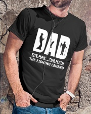 Dad Man Myth Legend Funny Classic T-Shirt lifestyle-mens-crewneck-front-4