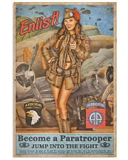 Become A Paratrooper Jump Into The Fight 11x17 Poster front