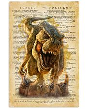 Dinosaur Vintage Dictionary Pages 11x17 Poster front