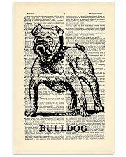 Bulldog Dog 11x17 Poster front