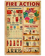 Fire Action 11x17 Poster front