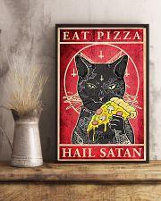 Eat Pizza Hail Satan 11x17 Poster lifestyle-poster-3