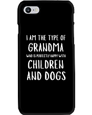 Happy Grandma With Children and Dogs Phone Case tile