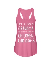 Happy Grandma With Children and Dogs Ladies Flowy Tank front