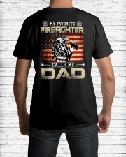 My Favorite Firefighter Calls Me Dad Classic T-Shirt lifestyle-mens-crewneck-back-1