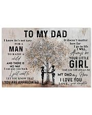 To My Dad 24x16 Poster front