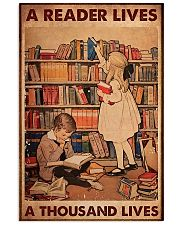 A Reader Lives A Thousand Lives 11x17 Poster front