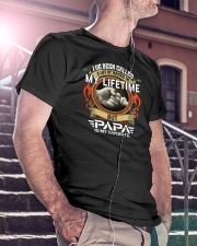 Papa Is My Favorite Classic T-Shirt lifestyle-mens-crewneck-front-5