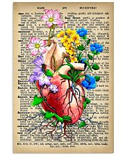Vintage Dictionary Anatomical Heart And Flowers 11x17 Poster front