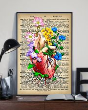 Vintage Dictionary Anatomical Heart And Flowers 11x17 Poster lifestyle-poster-2