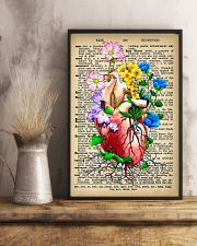Vintage Dictionary Anatomical Heart And Flowers 11x17 Poster lifestyle-poster-3