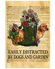 Easily Distracted By Dogs And Garden 11x17 Poster front