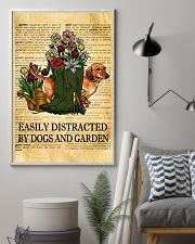 Easily Distracted By Dogs And Garden 11x17 Poster lifestyle-poster-1