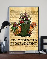 Easily Distracted By Dogs And Garden 11x17 Poster lifestyle-poster-2